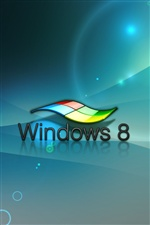 3D Windows 8的標誌 iPhone 桌布